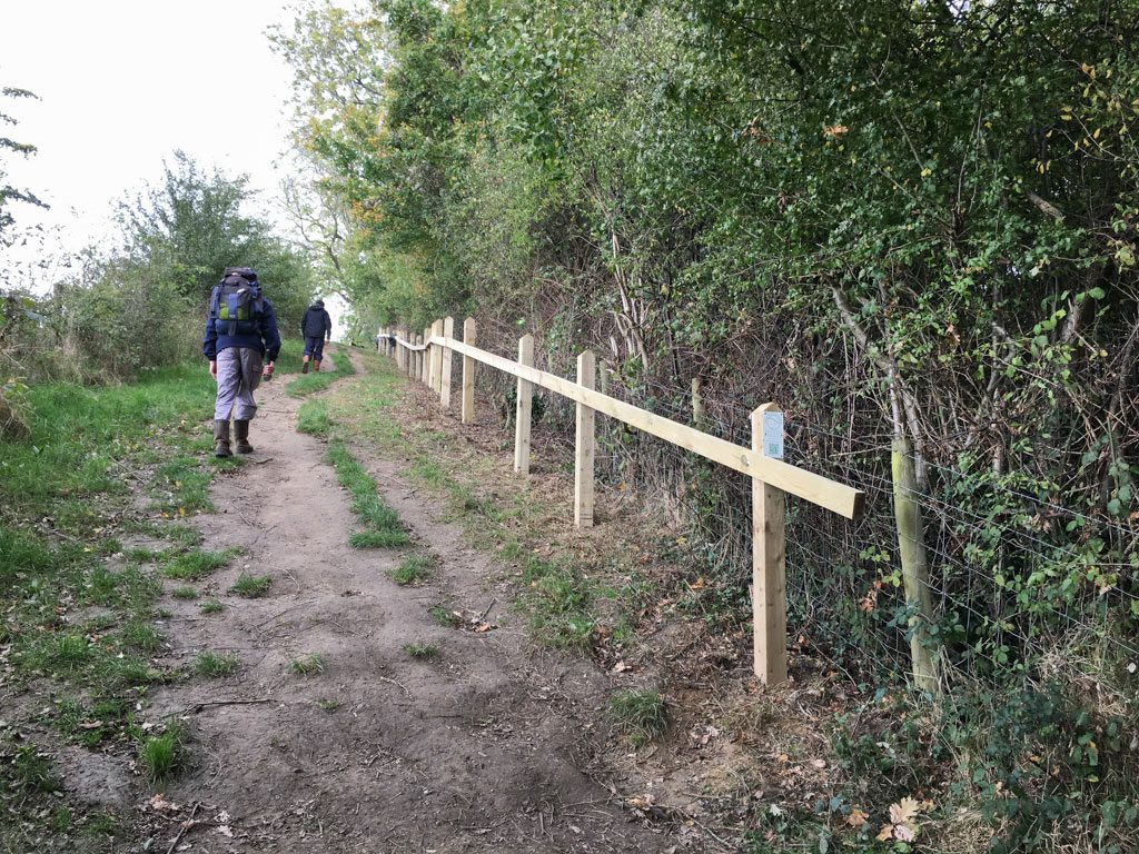 Handrail on the slippery slope above Weston – another CWA project